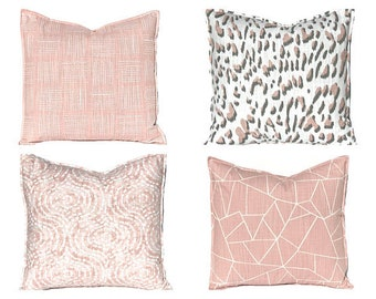 Blush Pillow Covers - Pink Pillow Covers - Decorative Pillow Covers - Accent Pillow - 16 x 16 - 18 x 18 - Pillow Sham - Sofa Pillow Covers