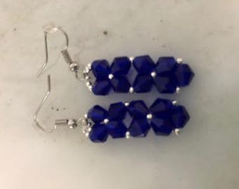 Rock Candy Pendant Earrings Royal Blue