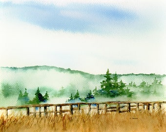 Original Watercolor Painting 8 x 10 Landscape