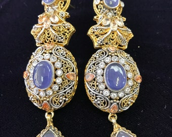 Indigo earrings