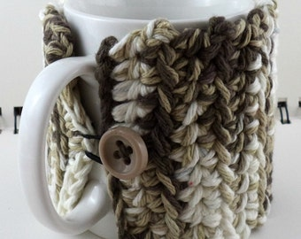 Coffee or Ice Cream Cozy in Light Mocha Colors (SWG-I23)