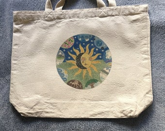 Earth mandala tote bag