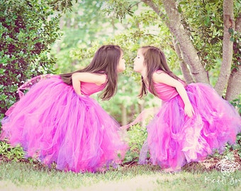 Ballet style Reversible Tutu - Sewn Made to Order - Couture Tulle Skirt - flower girls, portraits - Featured in Parenting Magazine