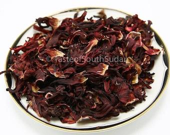 HIBISCUS FLOWERS, Dried Hibiscus Sabdariffa Petals, HERBAL, Roselle, Karkade, Jamaican Sorrel