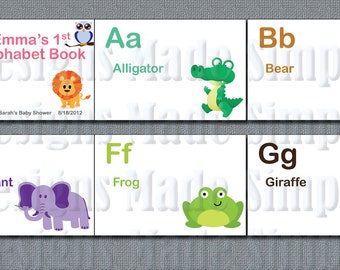Baby's First Alphabet Book - Baby Shower Activity - Animals A-Z - Printable
