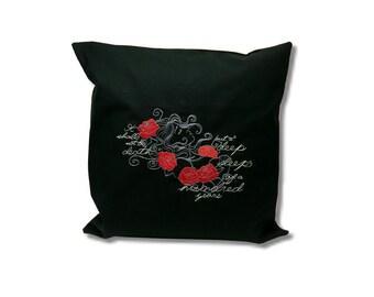 Dark Fairytale Cushion  Sleeping Beauty