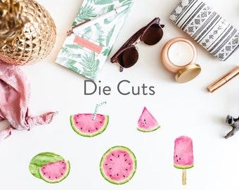 Planner Die Cuts / Watermelon Die Cuts / Planner Accessories / TN Die Cuts / Traveler's Notebook Accessories