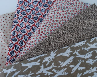 One Pound Assortment Home Decor Cotton Fabric Mix