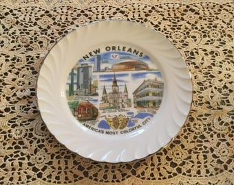 Vintage NEW ORLEANS America's Most Colorful City Collector PLATE