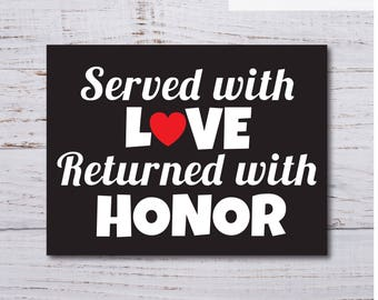 Printable Served With Love Missionary Banner, Returned Missionary, LDS Missionary, Welcome Home!