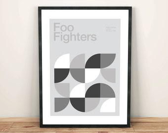 Foo Fighters Remixed Gig Poster, Art Print, Music Poster
