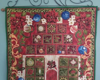 Poinsettia Advent Calendar/Countdown to Christmas Wall Hanging