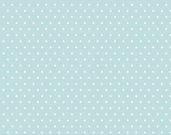 Polka Dot - Blue - Tout Petit KNIT by Cloud9 Fabrics