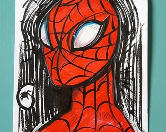 A5 Original Sketch - Spiderman