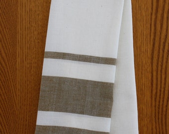 Brown Stripe Tea Towel Set