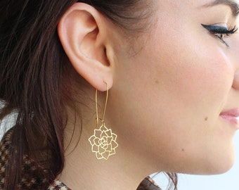 Succulent Earrings | Brass | ATL-E-223
