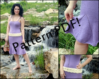Guinevere Romantic Dress Pattern: PDF Knitting Pattern by The Sexy Knitter