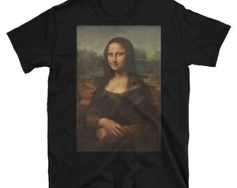 Leonardo da Vinci, Mona Lisa Black - T-Shirt