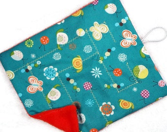Butterflies critters flowers marble maze game, cloth fabric, roll up maze fidget, level 1 or 2, waldorf sensory toy, autism party favor gift