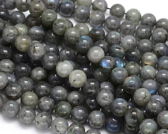 10 x 8mm Labradorite round beads
