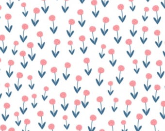 Frolic- poppies- Dear stella Cotton Fabric-Floral, Flower