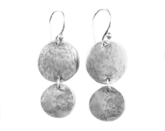 Rustic Silver Earrings - Oxidized Silver Earrings - Santa Fe Bound Earrings - Boho Style Earring - SALE WAS 153 NOW 110