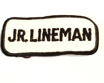 Free Shipping! Jr Lineman Patch