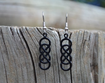 Double Infinity Earrings - Eternity - Knot