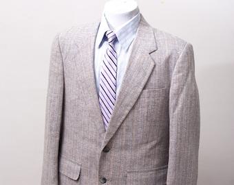 Men's Blazer / Vintage Pastel Striped Jacket / Size 40 Medium