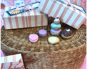 Pastry Box filled with Cute Pastry