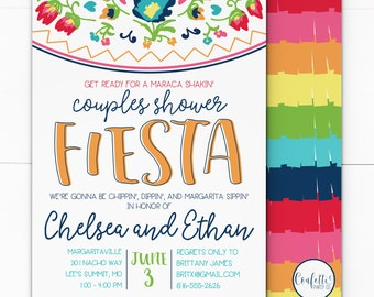 Fiesta Bridal Shower Invitation -  Fiesta Couples Shower Invitation - Mexican Fiesta Invitation - Mexican Couples Shower - Fiesta Mexican