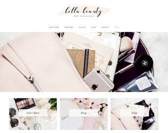 Responsive WordPress Theme   Bella Beauty Feminine Blog Design   WordPress Template   Genesis Child Theme