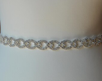 Wedding dress Bridal Sash,Wedding Dress Sash Belt,  Rhinestone Sash,  Rhinestone Bridal Bridesmaid Sash Belt, Wedding dress sash