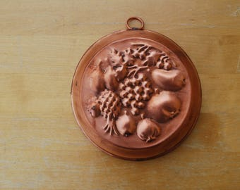 Vintage Copper Fruits theme Mold, Copper Kitchen Decor | Wall Decor | Copper wall Hanging | baking form |Sweden | Scandinavia