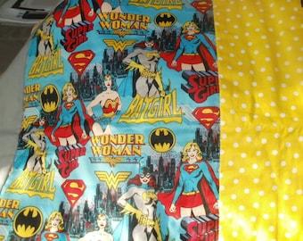 Wonder Woman Super Girl Bat Girl Super Heros quilt