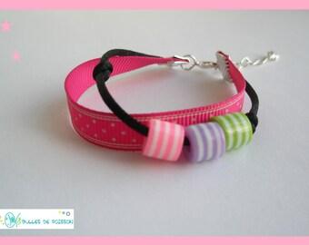 """Bracelet girl """"small striped beads"""""""
