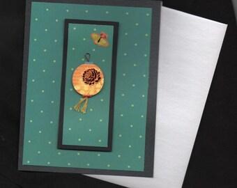 Chinese New Year Card Elegant 3 Dimensional Hanging Lantern