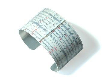 Slide Rule  Image Aluminium Cuff
