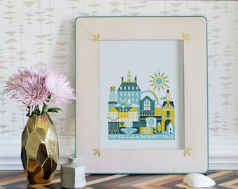 WILLIAMSBURG print -11 x 14 in.  (color: Mellow)