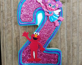 Elmo Birthday candle, Sesame Street Birthday Candle