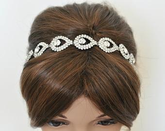 Wedding headpiece, headband, TIFFANY, Rhinestone Headband, Wedding Headband, Bridal Headband, Bridal Headpiece, Rhinestone