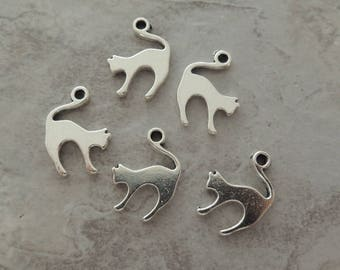 5 Playful Cats - Very Cute - Cat Lovers - Halloween - Jewelry Supply - Accessories - Scrapbook
