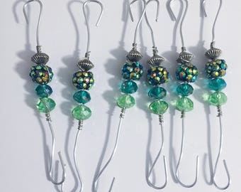 Beaded Ornament Hooks (Set of 6)