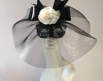 Black masquerade Masks -Costume party mask- Flower mask- Masquerade Ball- Mardi Gras Mask- Masked ball- Black Masks- Halloween- Mardi Gras