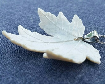 Snowflake Maple Leaf Necklace