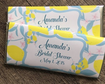 Lemon Themed Party Favors-Candy Wrapper favors-pack of 10-WRAPPERS ONLY-baby shower-bridal shower-birthday favor