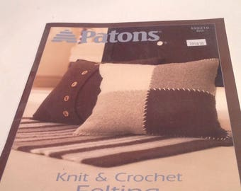 knit and crochet felting booklet