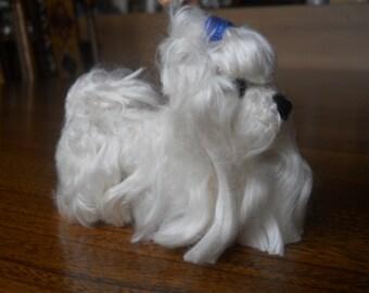 Custom Maltese needle felted dog - needle felted original animal soft sculpture. - small size - Dog Lovers Gift