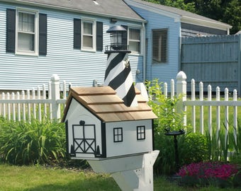Cottage Style Lighthouse - handcrafted