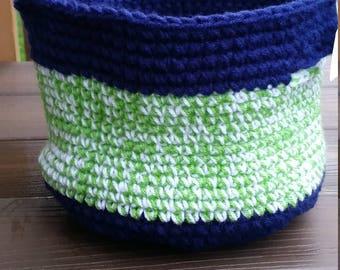 Seahawk inspired basket
